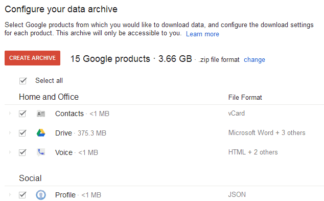 download google data copy