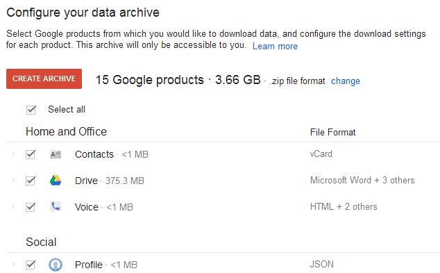 download google data copy