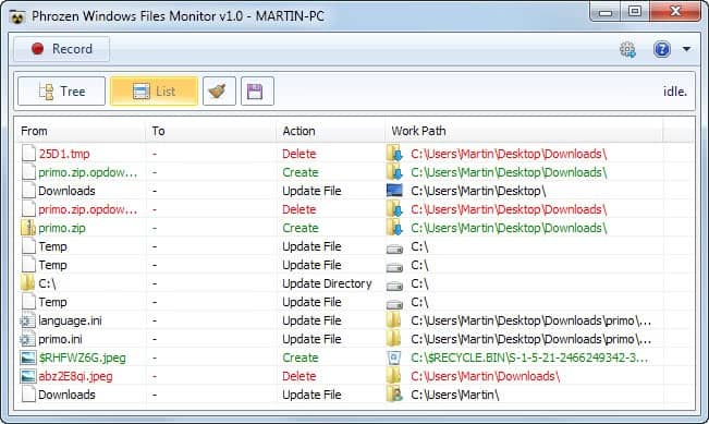files monitor