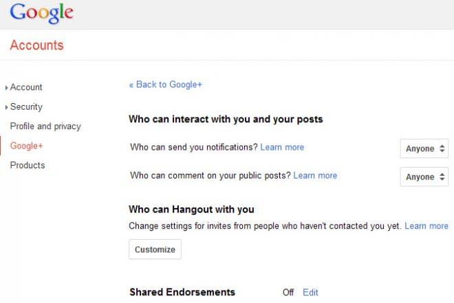 shared endorsements google plus