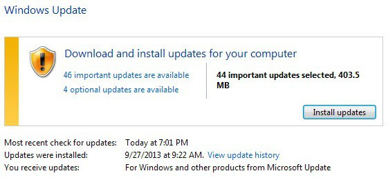 windows update october 2013