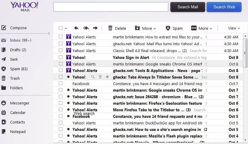 yahoo inbox