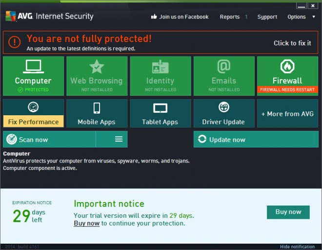 AVG Internet Security trial
