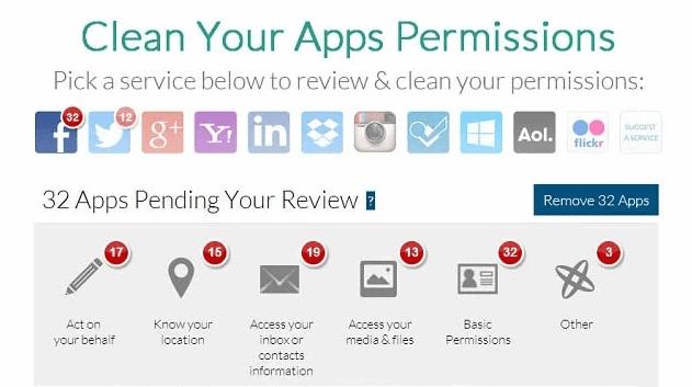 clean app permissions