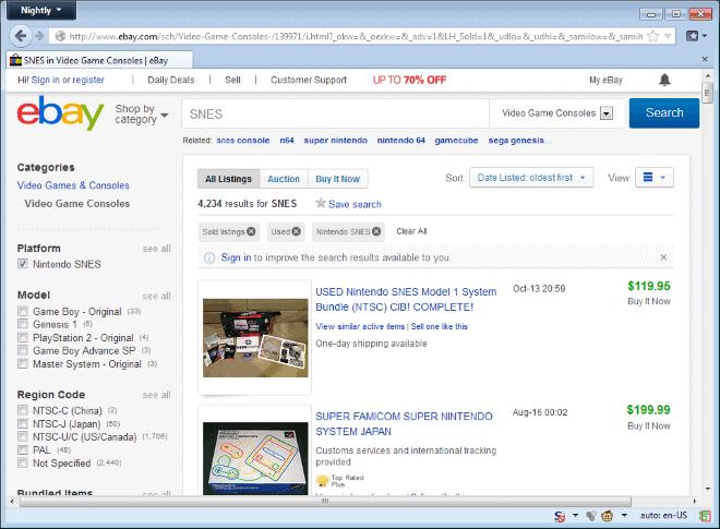 ebay sold items