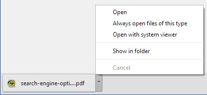 Why does Google Chrome open downloaded pdfs in the browser?