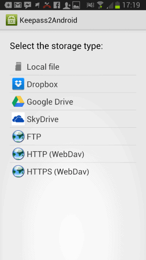 keepass2android remote access