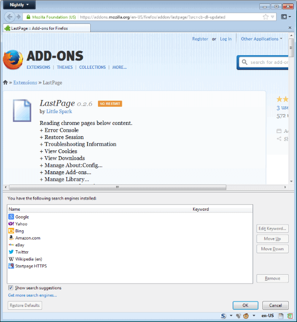 lastpage for firefox