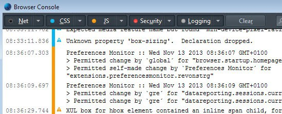 preferences monitor interface