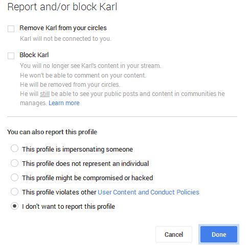 report or block