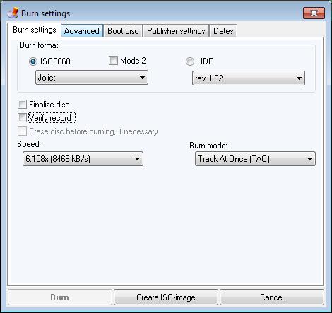 burn-data-disc