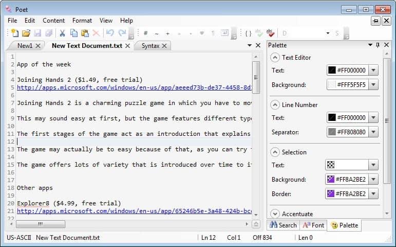 poet text editor windows