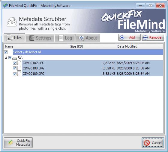quickfix meta data