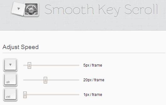 smooth key scroll