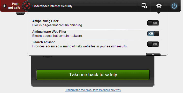 How to turn off Bitdefender blocked this page notifications