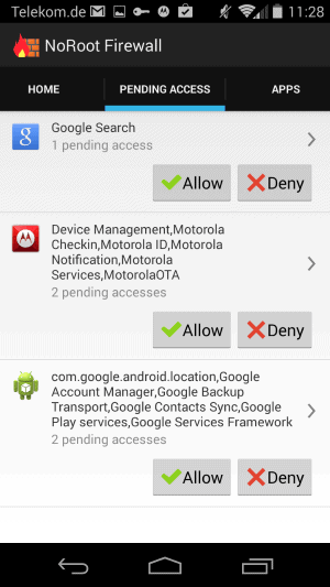 Control which apps may access the Internet on your Android