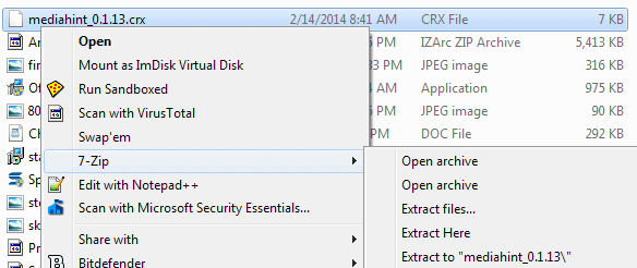 extract crx file