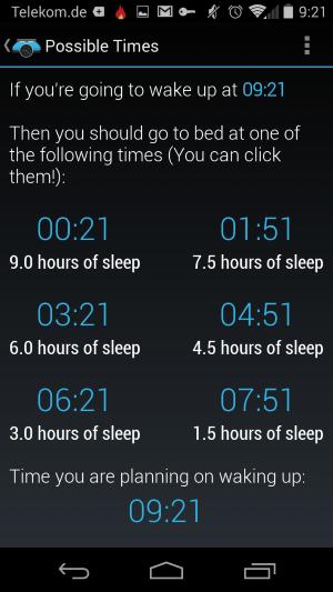 sleep alarm calculator