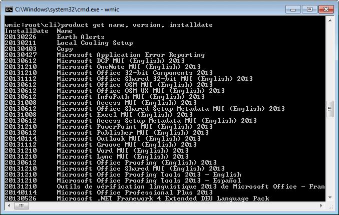 windows software installation list