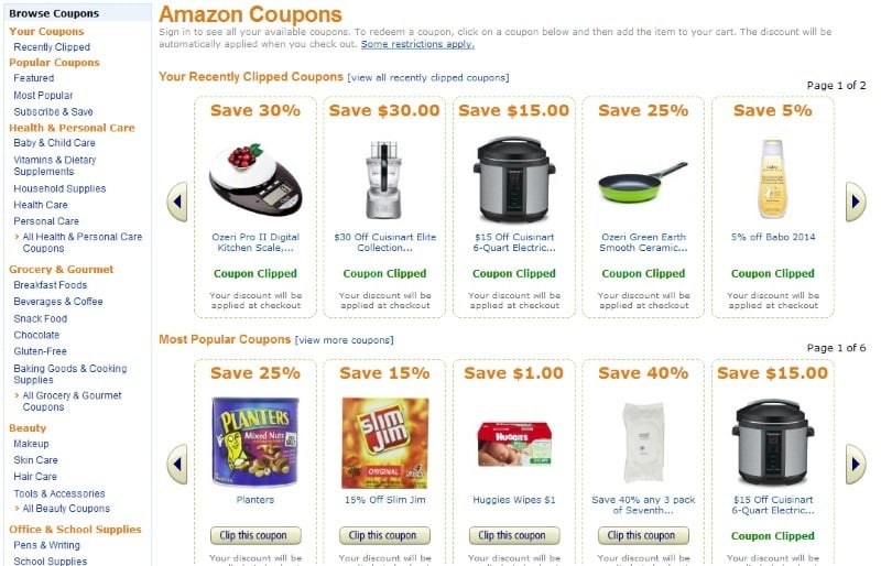 how do you find amazon coupon codes