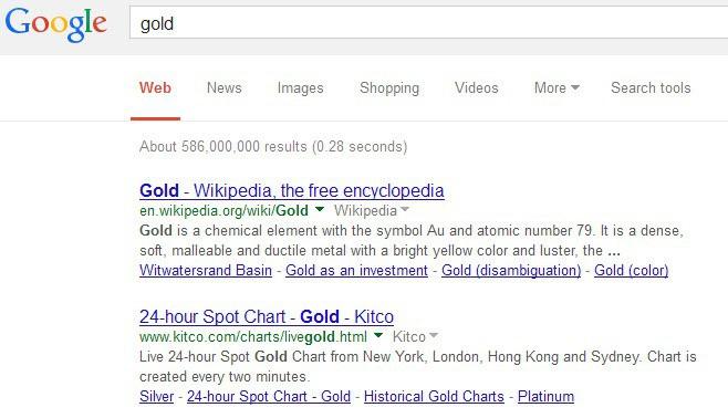 google search old design