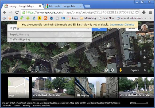 lite mode google maps