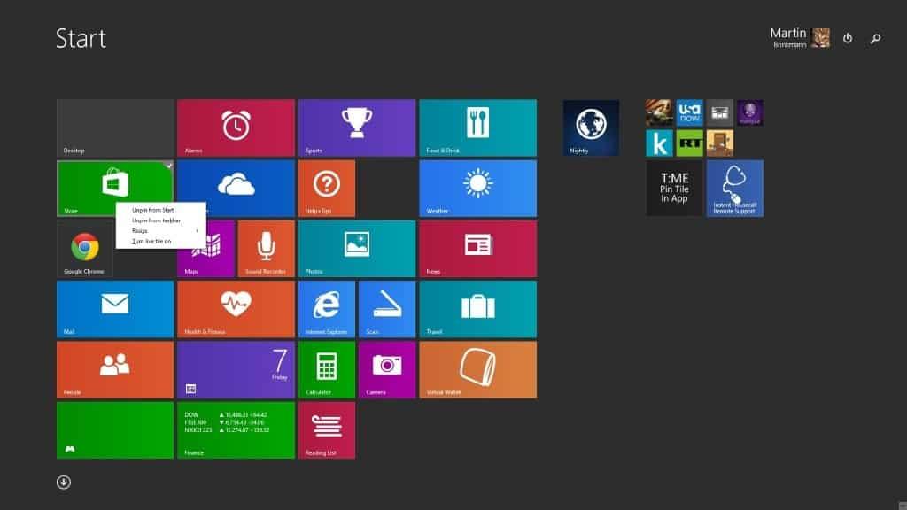 mouse right-click menu