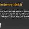 problem mit dem service 1002 1