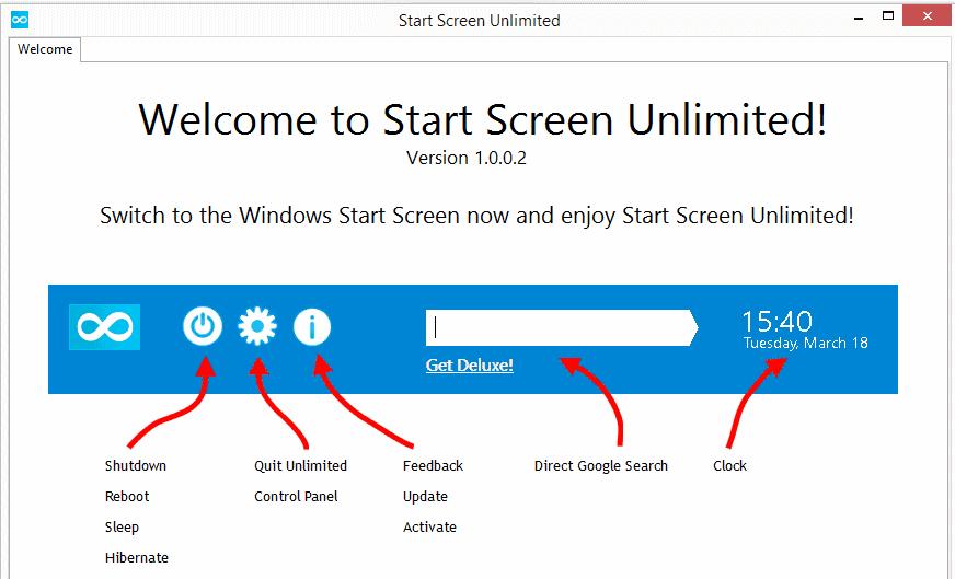 start screen unlimited