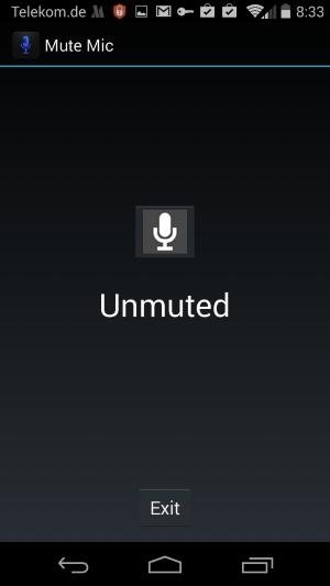 unmute microphone
