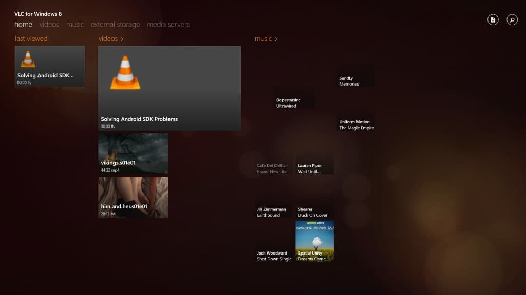 how to see vlc libary