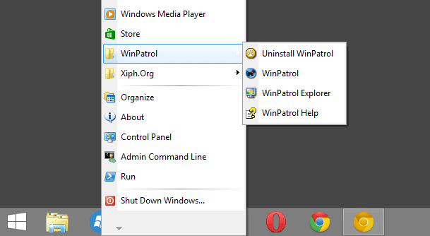 windows xp start menu windows8