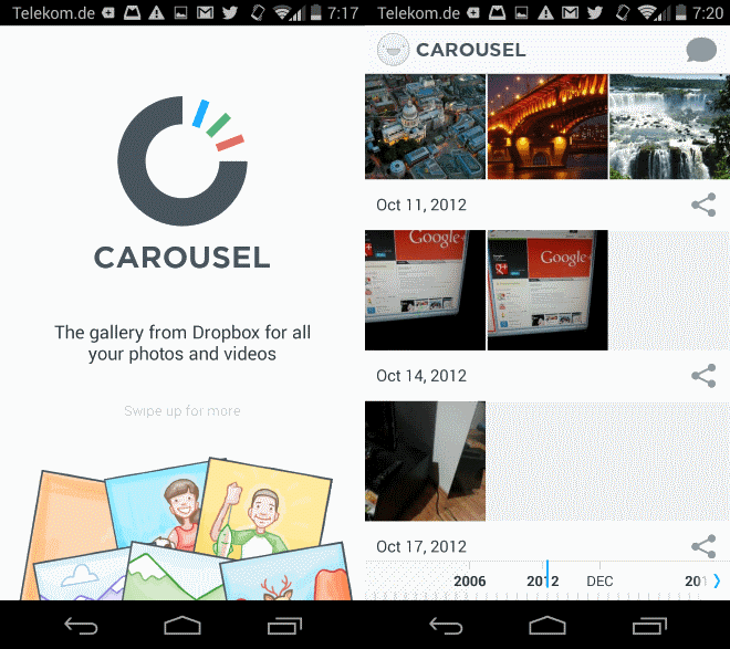 carousel dropbox media viewer