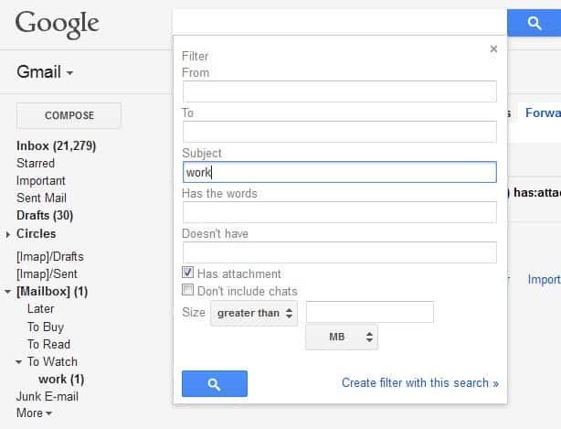 gmail attachments label