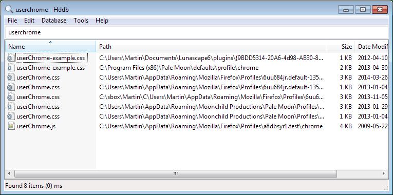 hdbb file search windows
