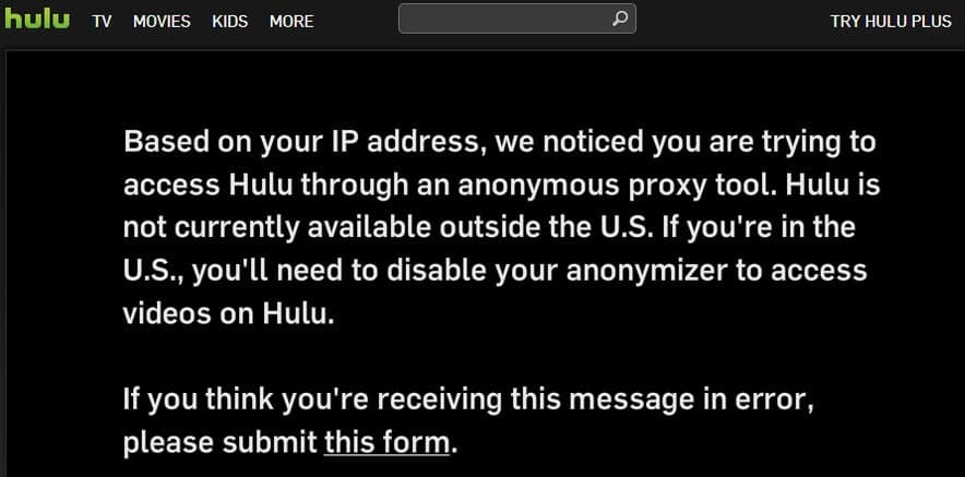 How to bypass Hulu's anonymous proxy tool ban