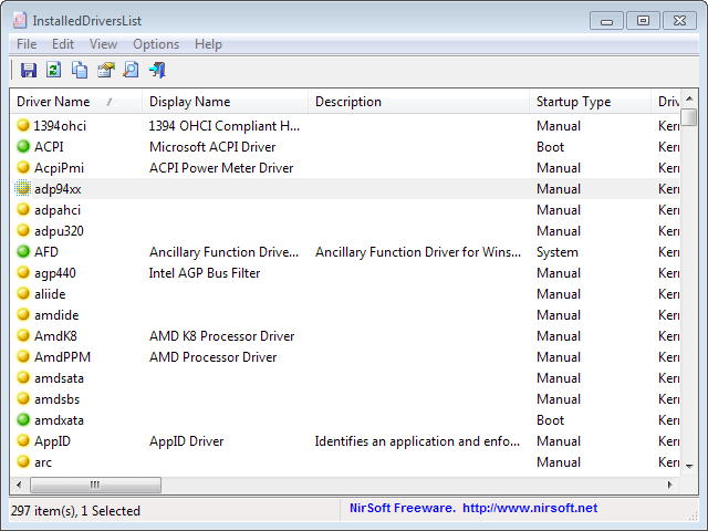 Display and export a list of all installed Windows drivers