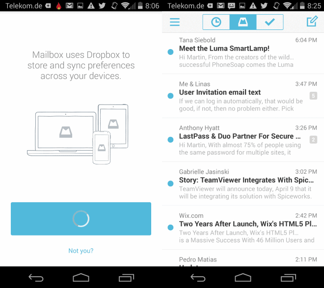 Mailbox email app for Android has been released - gHacks