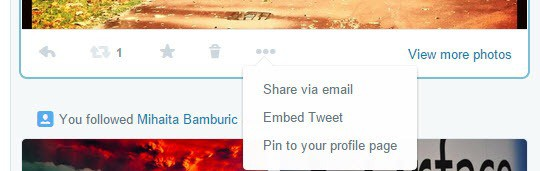 pin to profile twitter