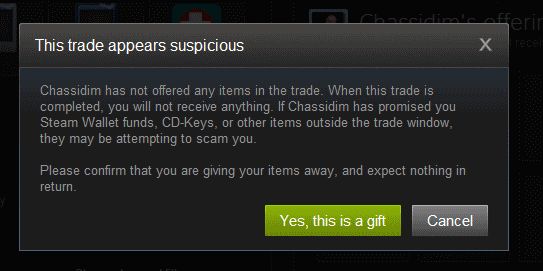 this trade appears suspicious