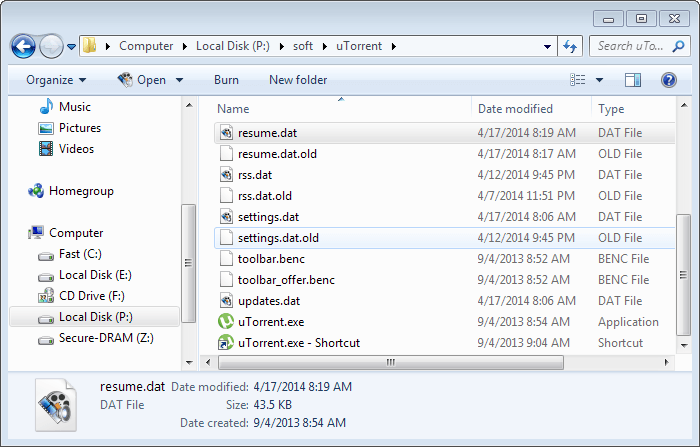How to restore a uTorrent session