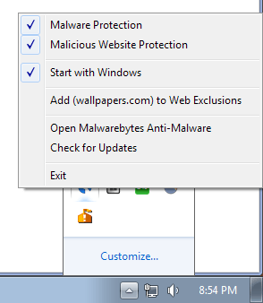 web exclusions