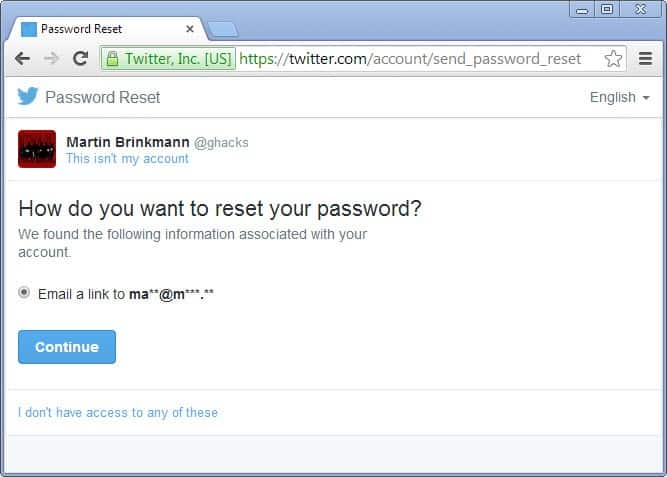 Twitter improves account security, improves password reset