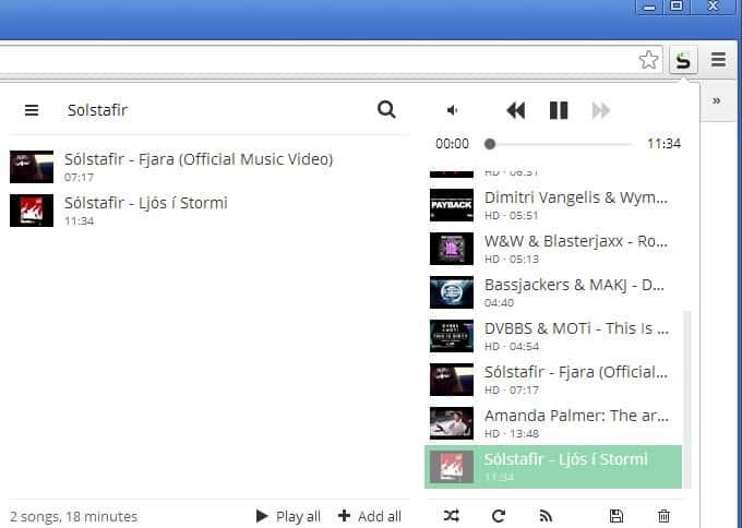 streamus youtube videos background
