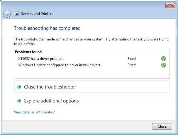 troubleshooting fixed