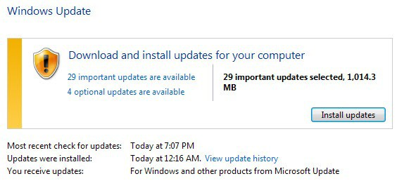 windows updates may 2014