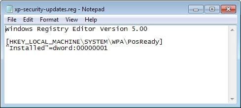 windows xp updates