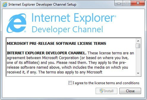 microsoft developer channel internet explorer