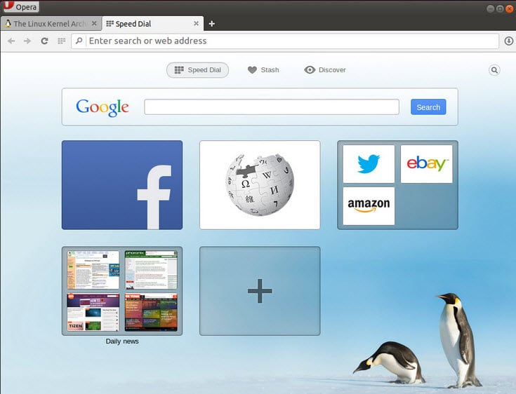 opera for linux