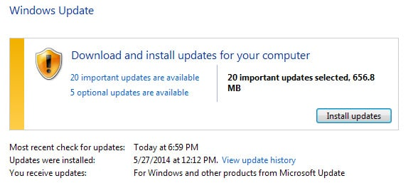 windows updates june 2014